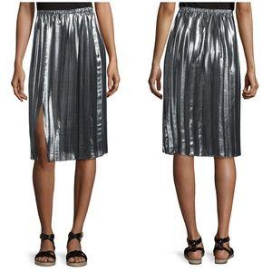 NWT Isabel Marant Madlen metallic silver skirt M